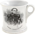 Political:3D & Other Display (pre-1896), Winfield Scott and Henry Wagner Halleck: Portrait Mug....