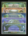 Miscellaneous:Other, Salt Spring Island Dollars Five Examples.. ... (Total: 5 notes)