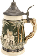 Political:3D & Other Display (1896-present), Theodore Roosevelt: German Hunting Beer Stein. ...
