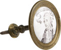 Political:3D & Other Display (pre-1896), George Washington: A Fine Battersea Curtain Tieback or Drawer Pull, Circa 1780s - 1790s. ...