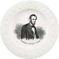 """Political:3D & Other Display (pre-1896), Abraham Lincoln: A Classic """"ABC"""" Saucer in Superb Condition. ..."""