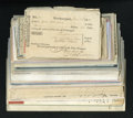 Miscellaneous:Other, Late 18th Century Checks and More.. ... (Total: 129 items)