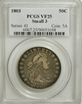 Early Half Dollars, 1803 50C Small 3 VF25 PCGS....