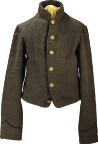 The Confederate Officer's Shell Jacket of Captain John A. West, Chief of Artillery On General Taylor's Staff