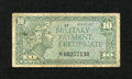 Military Payment Certificates:Series 611, Series 611 10¢ Replacement Fine....