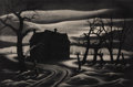 Texas:Early Texas Art - Drawings & Prints, JESSE JAY MCVICKER (American, 1911-2004). Nocturne, 1941.Aquatint . 9-3/4 x 14-3/4 inches (24.9 x 37.5 cm). Ed. 13/25. ...