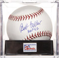 "Autographs:Baseballs, Bob Feller ""HOF 62"" Single Signed Baseball, PSA Gem Mint 10. ..."