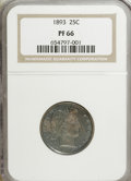 Proof Barber Quarters, 1893 25C PR66 NGC....
