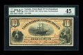Canadian Currency: , St. Johns, NF- Union Bank of Newfoundland $10 May 1, 1889 Ch. # 750-16-06. ...