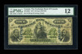 Canadian Currency: , Montreal, P.Q.- The Exchange Bank of Canada $4 Oct. 1, 1872 Ch. #245-10-02b. ...