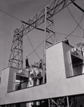 Photography :20th Century , WERNER STOY (American). A Study of an Electrical Plant, California, circa 1940. Silver gelatin, circa 1940. Paper: 8 x 6...