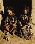 Photography :20th Century , THE AMERICAN COLONY PHOTO DEPARTMENT. Children, Jerusalem, circa 1912. Hand-tinted silver gelatin, circa 1912. 11 x 9 in...