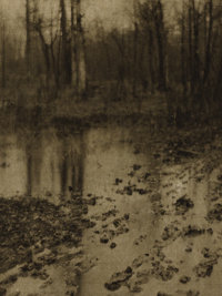 EDWARD JEAN STEICHEN (American, 1879-1973) The Pool, Camerawork, 1906 Photogravure on tissue Pape