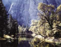 Prints, ANSEL EASTON ADAMS (American, 1902-1984). Autumn Trees-El Capitan Bridge. Kodachrome transparency. 4 x 5 inches (10.2 x ...