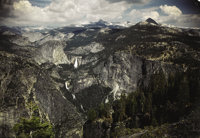 ANSEL EASTON ADAMS (American, 1902-1984) View from Glacier Point Kodachrome transparency 5 x 7 in
