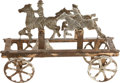 Political:Miscellaneous Political, Theodore Roosevelt: An Unusual Toy Showing Him Leading a RoughRider Charge. ...