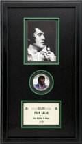 Music Memorabilia:Memorabilia, Elvis Framed Memorabilia Display....