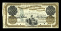 Large Size:Demand Notes, Fr. UNL Hessler UNL $5000 Temporary Loan of 1862 Baltimore Officeof the Designated Depository of the United States Proof Extr...