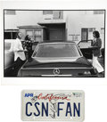 Music Memorabilia:Autographs and Signed Items, Crosby, Stills and Nash Signed License Plate with Photo.... (Total:2 Items)