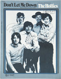 Music Memorabilia:Autographs and Signed Items, The Hollies Band-Signed Sheet Music....