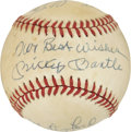 Autographs:Baseballs, New York Yankees Greats Multi-Signed Baseball with Mantle....