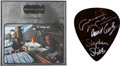 Music Memorabilia:Autographs and Signed Items, Crosby, Stills & Nash Signed Giant Guitar Pick with CSNAlbum Cover Display.... (Total: 2 Items)