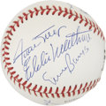 Autographs:Baseballs, 500 Home Run Club Baseball Signed by 6....