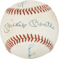 Autographs:Baseballs, Willie, Mickey and the Duke Multi-Signed Baseball....