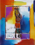 Basketball Collectibles:Others, Michael Jordan Signed Peter Max Lithograph with Remarque....