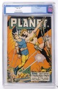 Golden Age (1938-1955):Science Fiction, Planet Comics #46 (Fiction House, 1947) CGC VF+ 8.5 Cream tooff-white pages....