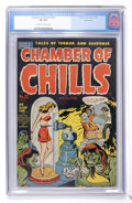 Golden Age (1938-1955):Horror, Chamber of Chills #22 (#2) Bethlehem pedigree (Harvey, 1951) CGC VF8.0 Cream to off-white pages....