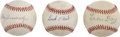 Autographs:Baseballs, Negro League Stars Single Signed Baseballs Lot of 3....