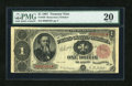 Large Size:Treasury Notes, Fr. 350 $1 1891 Treasury Note PMG Very Fine 20....