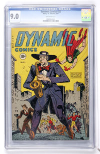 Dynamic Comics #22 (Chesler, 1947) CGC VF/NM 9.0 Off-white pages