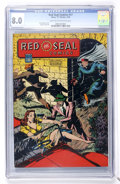 Golden Age (1938-1955):Miscellaneous, Red Seal Comics #17 (Chesler, 1946) CGC VF 8.0 Light tan to off-white pages....