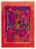 Fine Art - Work on Paper:Print, MARINO MARINI (Italian, 1901-1980). Orizzonte, 1979. Lithograph in colors. Ed. 40/75. Initialed lower right: MM. 28 ...