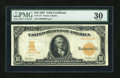 Large Size:Gold Certificates, Fr. 1171 $10 1907 Gold Certificate PMG Very Fine 30....