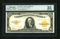 Large Size:Gold Certificates, Fr. 1173 $10 1922 Gold Certificate PMG Choice Very Fine 35....