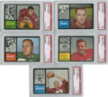 Football Cards:Lots, 1962 Topps Football PSA NM 7 Group Lot of 5....