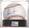 Autographs:Baseballs, Nolan Ryan Single Signed Baseball, PSA Gem Mint 10...