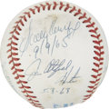 Autographs:Baseballs, Perfect Game Pitchers Multi-Signed Baseball with Plaque....