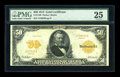 Large Size:Gold Certificates, Fr. 1198 $50 1913 Gold Certificate PMG Very Fine 25....