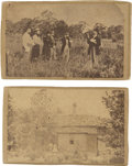 Photography:CDVs, [Abraham Lincoln's Burial Vault] Group of four cartes de visite by J.Q.A Tresize, images include Lincoln's casket in the... (Total: 4 Items)