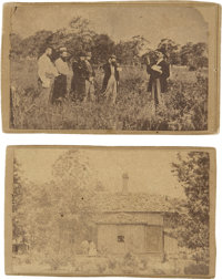 [Abraham Lincoln's Burial Vault] Group of four cartes de visite by J.Q.A Tresize, images include Lincoln's