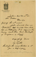 """Autographs:Celebrities, Christian Rath, Executioner of the Assassination Conspirators,Autograph Letter Signed, one page, 6"""" x 9.5"""", Jackson, Michig...(Total: 3 Items)"""