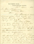 """Autographs:Military Figures, [Lincoln Assassination] Assistant Adjutant General William Russell, Jr., Autograph Report Signed """"Wm Russell Jr / AAG"""". ..."""