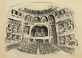 Fine Art - Work on Paper:Print, MASSIMO CAMPIGLI (Italian, 1895-1971). Teatro I, 1950. Lithograph. Signed and dated lower right: Campigli 1950. Sign...