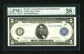 Fr. 863a $5 1914 Federal Reserve Note PMG Choice About Unc 58 EPQ