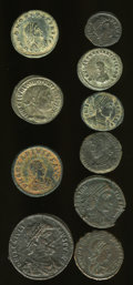 Ancients:Ancient Lots  , Ancients: Lot of ten late Roman AE.... (Total: 10 coins)