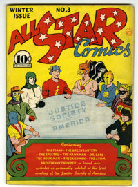 All Star Comics #3 (DC, 1940) Condition: Apparent FN-